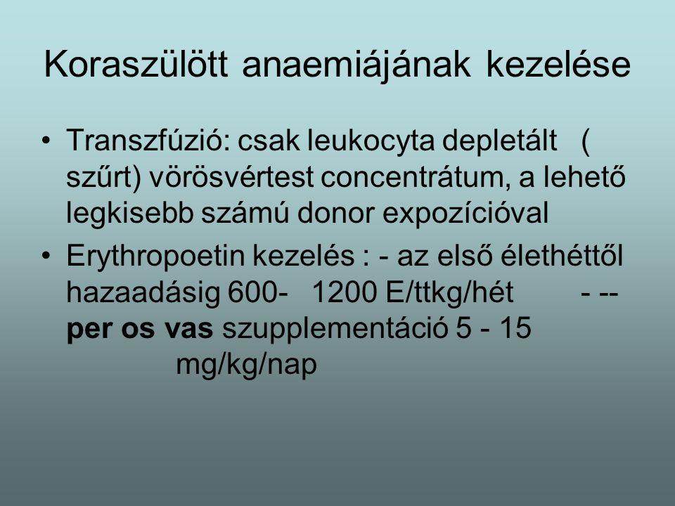 Koraszülött anaemiájának kezelése