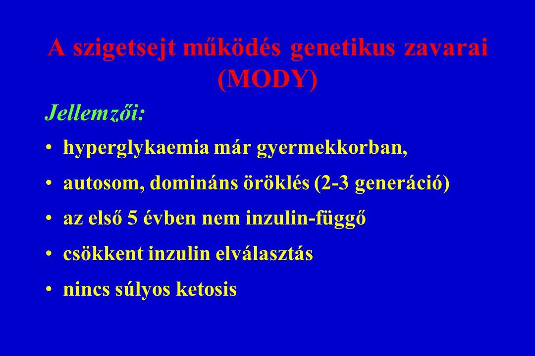 A szigetsejt működés genetikus zavarai (MODY)