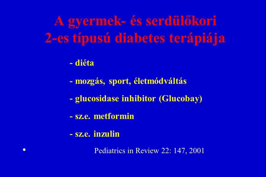 A gyermek- és serdülőkori 2-es típusú diabetes terápiája