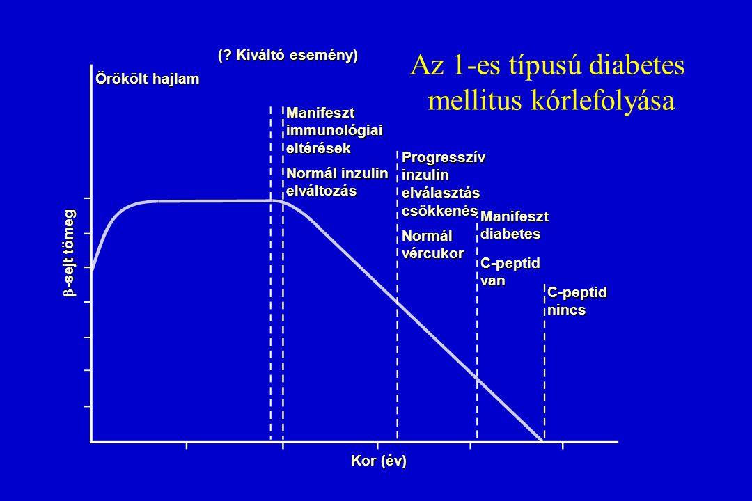 Az 1-es típusú diabetes mellitus kórlefolyása