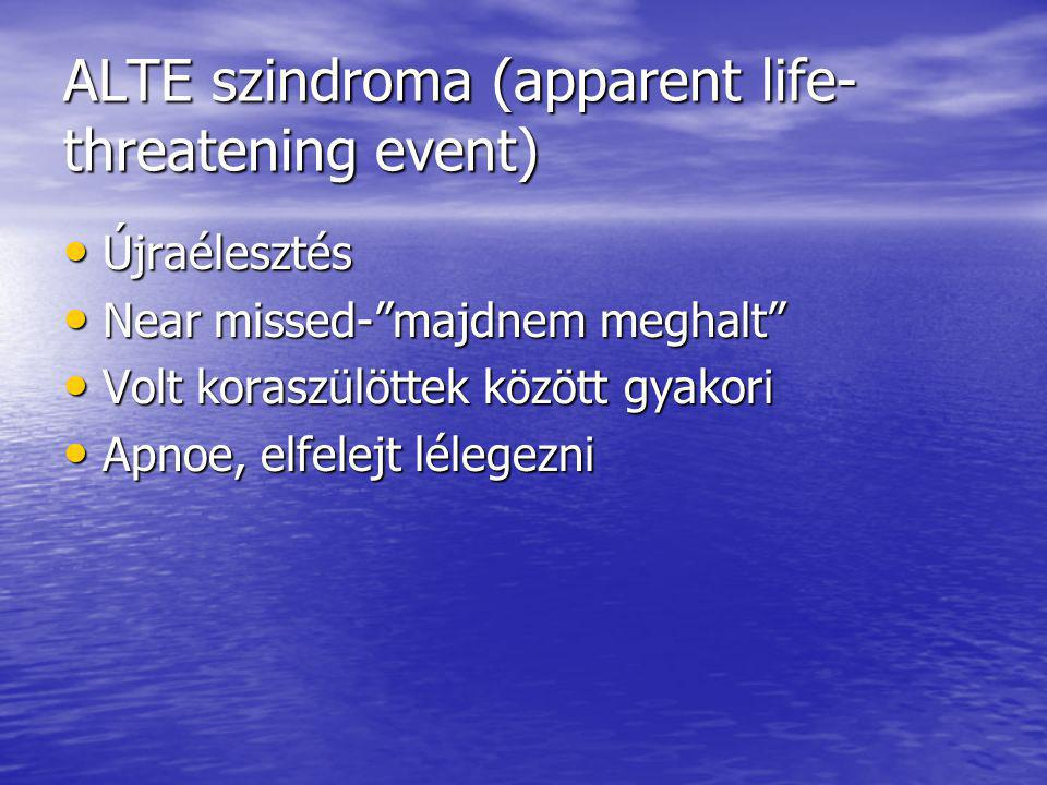 ALTE szindroma (apparent life-threatening event)