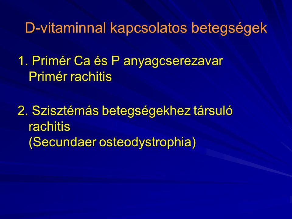D-vitaminnal kapcsolatos betegségek
