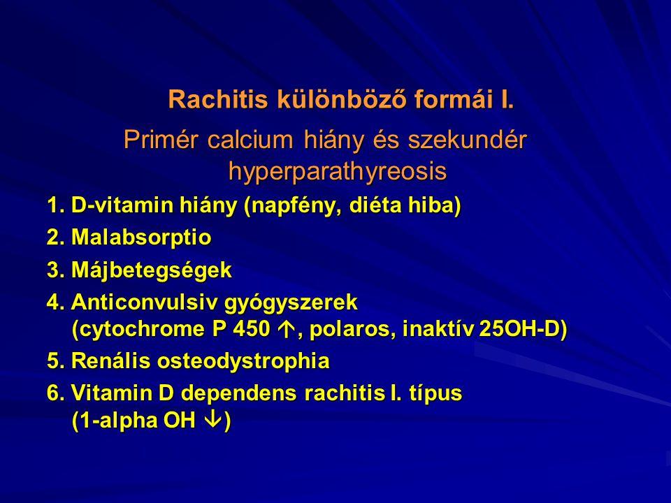Rachitis különböző formái I.