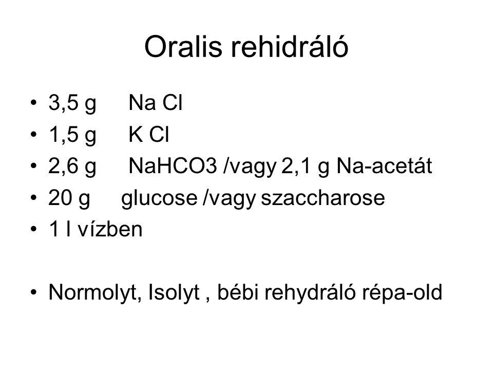 Oralis rehidráló 3,5 g Na Cl 1,5 g K Cl