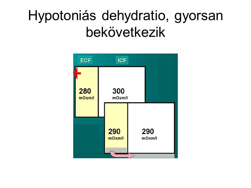 Hypotoniás dehydratio, gyorsan bekövetkezik