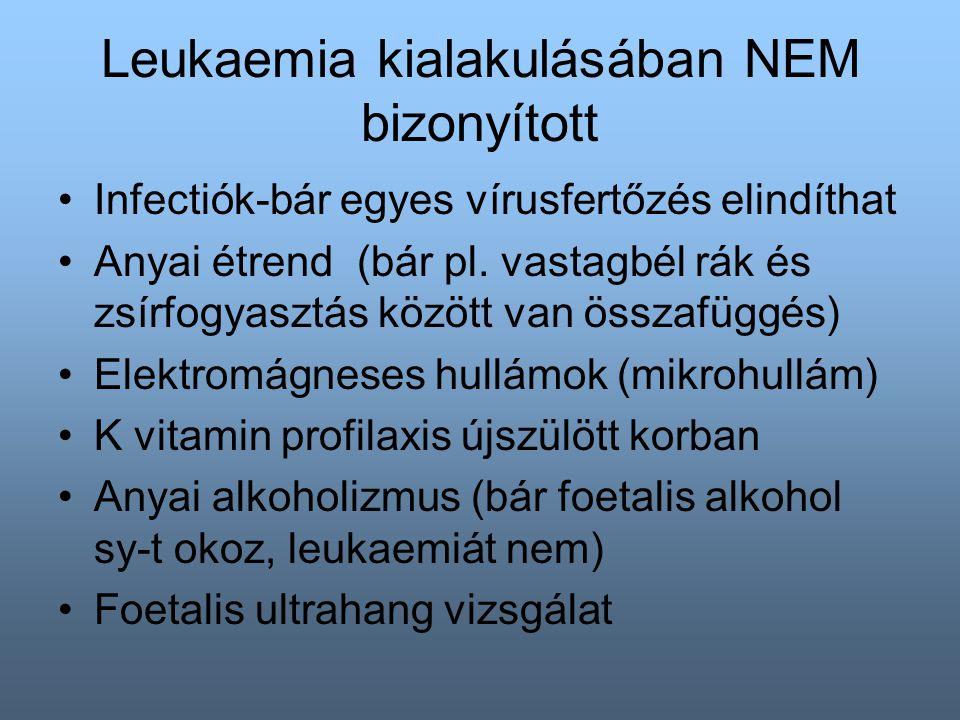 Leukaemia kialakulásában NEM bizonyított