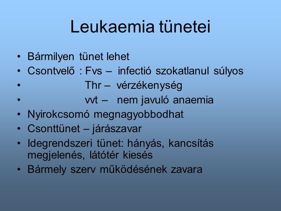 Leukaemia tünetei Bármilyen tünet lehet
