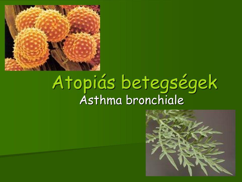 Atopiás betegségek Asthma bronchiale