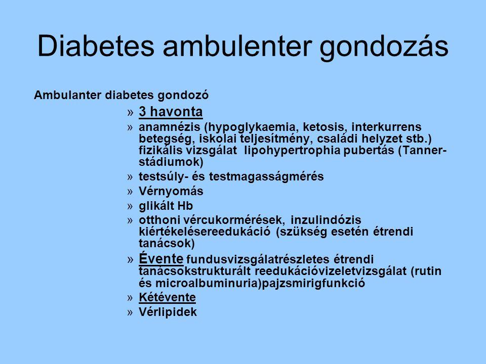 Diabetes ambulenter gondozás