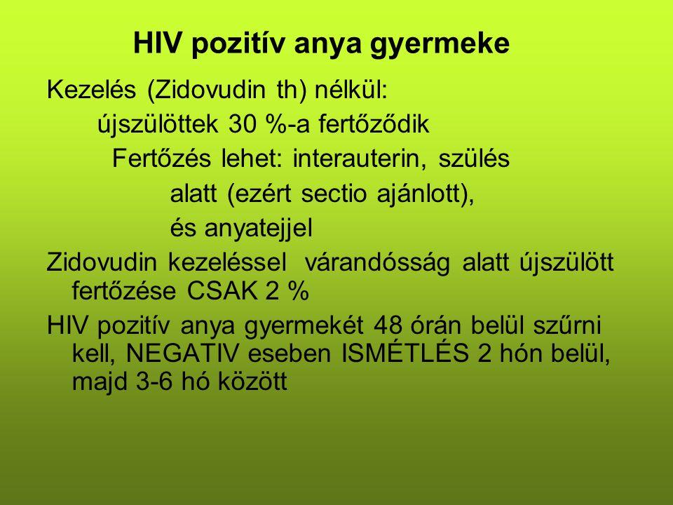 HIV pozitív anya gyermeke