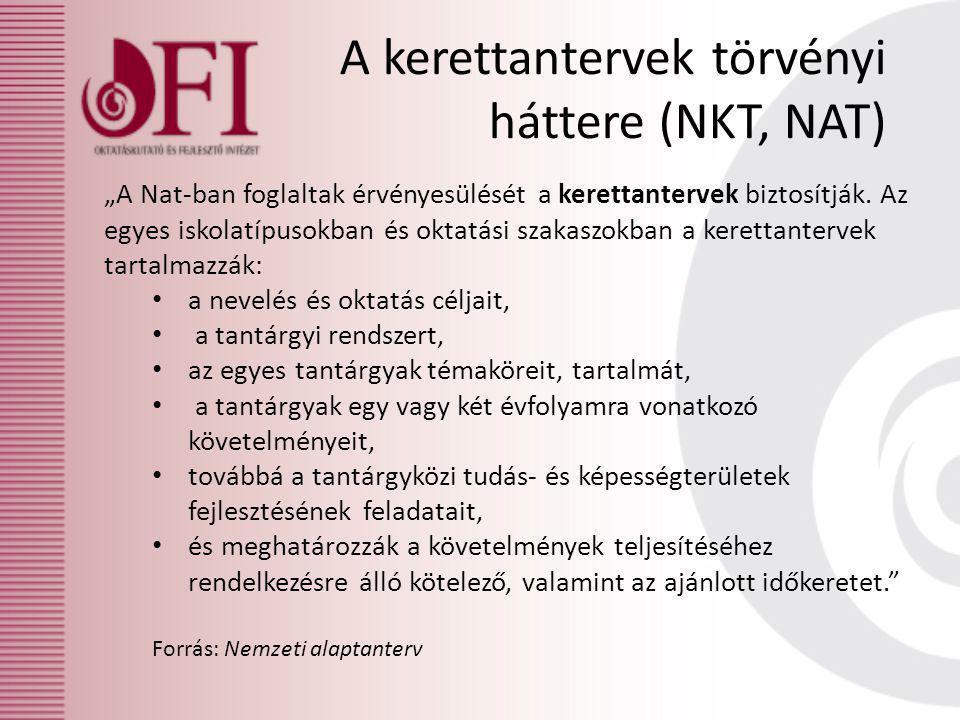 A kerettantervek törvényi háttere (NKT, NAT)