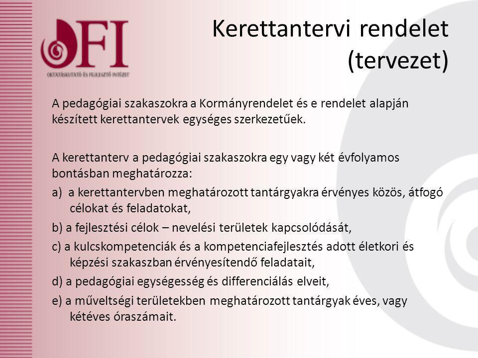 Kerettantervi rendelet (tervezet)