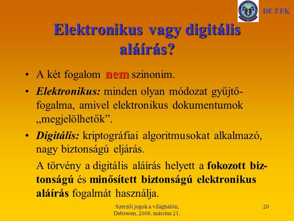 Elektronikus vagy digitális aláírás