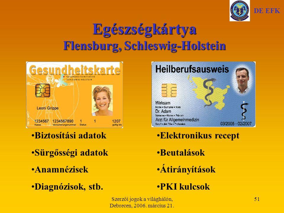 Egészségkártya Flensburg, Schleswig-Holstein