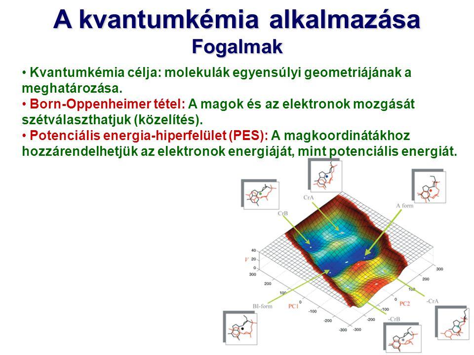 A kvantumkémia alkalmazása