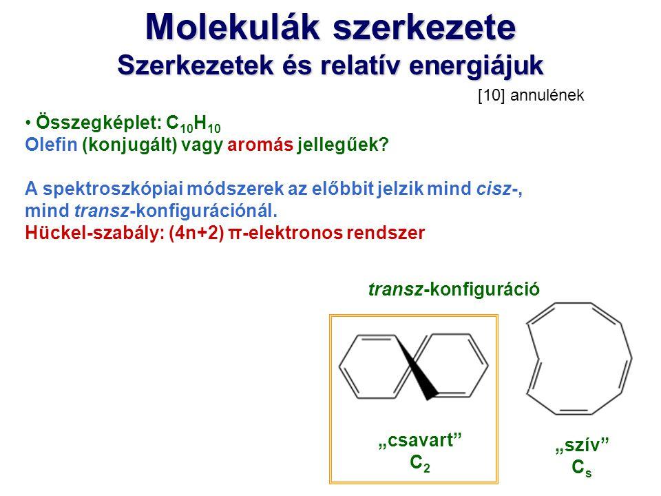 Szerkezetek és relatív energiájuk