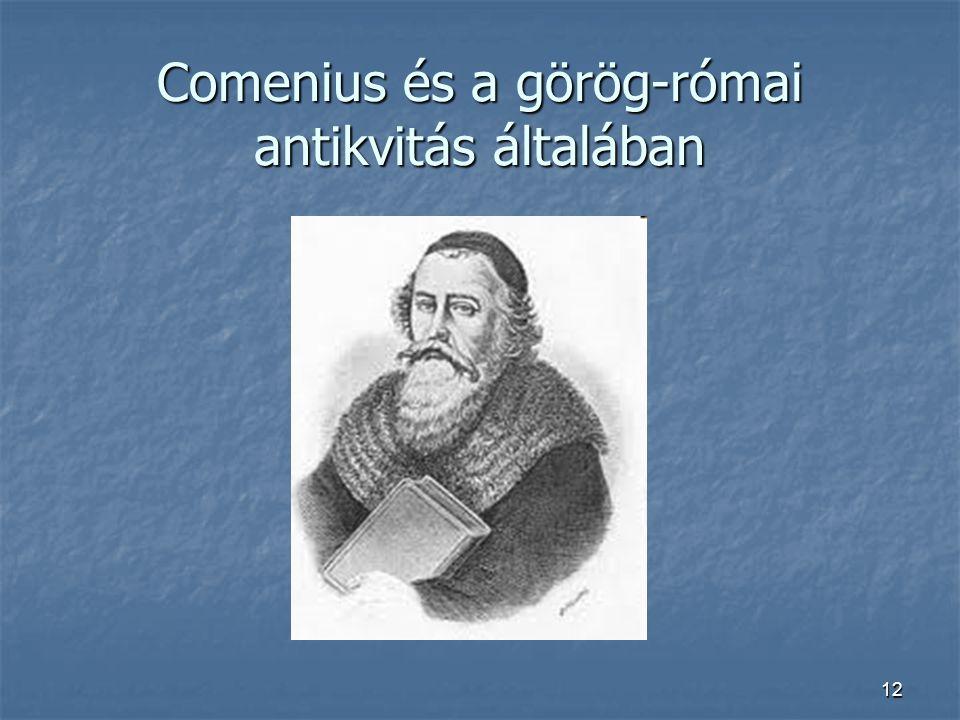 Comenius és a görög-római antikvitás általában
