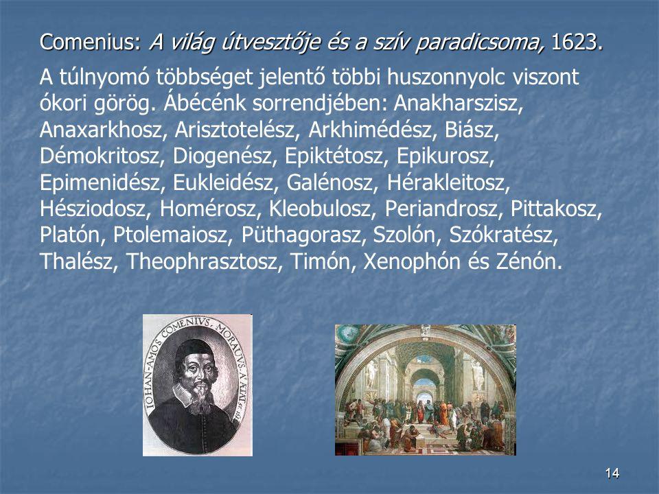 Comenius: A világ útvesztője és a szív paradicsoma, 1623.
