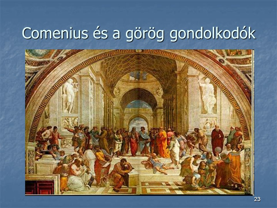 Comenius és a görög gondolkodók