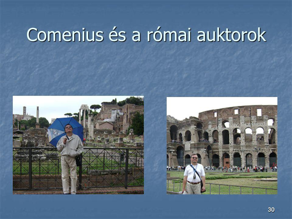 Comenius és a római auktorok