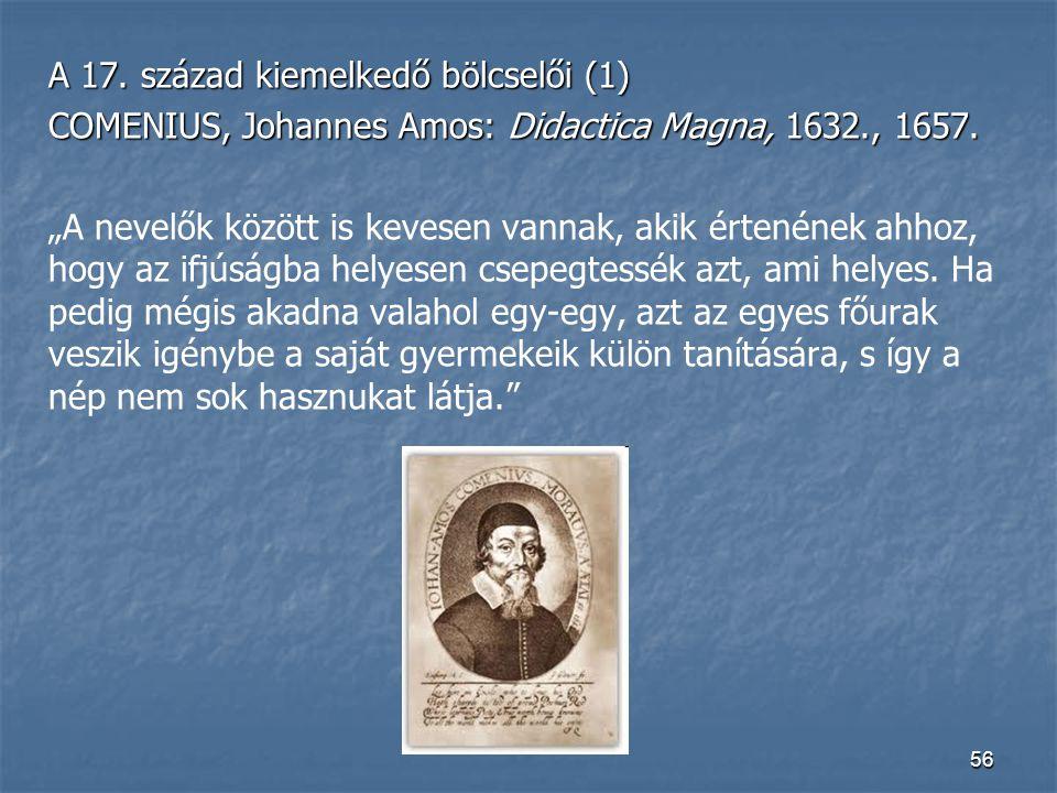 A 17. század kiemelkedő bölcselői (1)