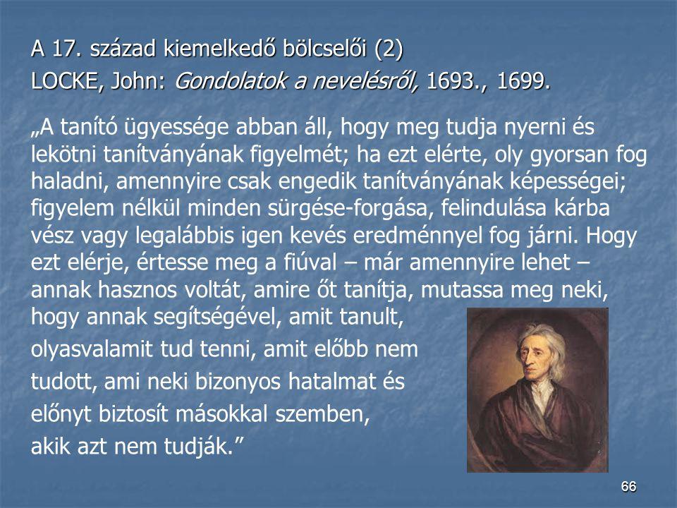 A 17. század kiemelkedő bölcselői (2)