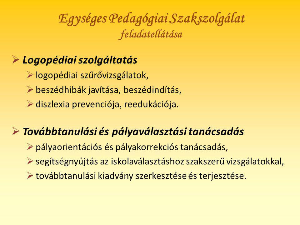 Egységes Pedagógiai Szakszolgálat feladatellátása