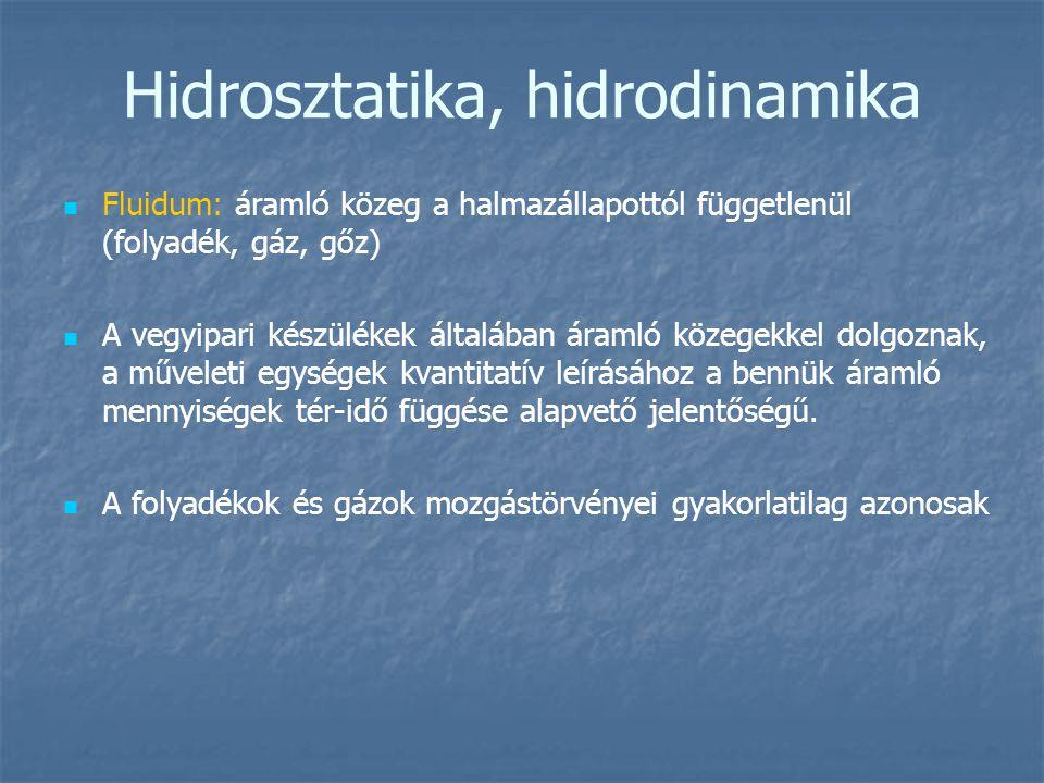 Hidrosztatika, hidrodinamika