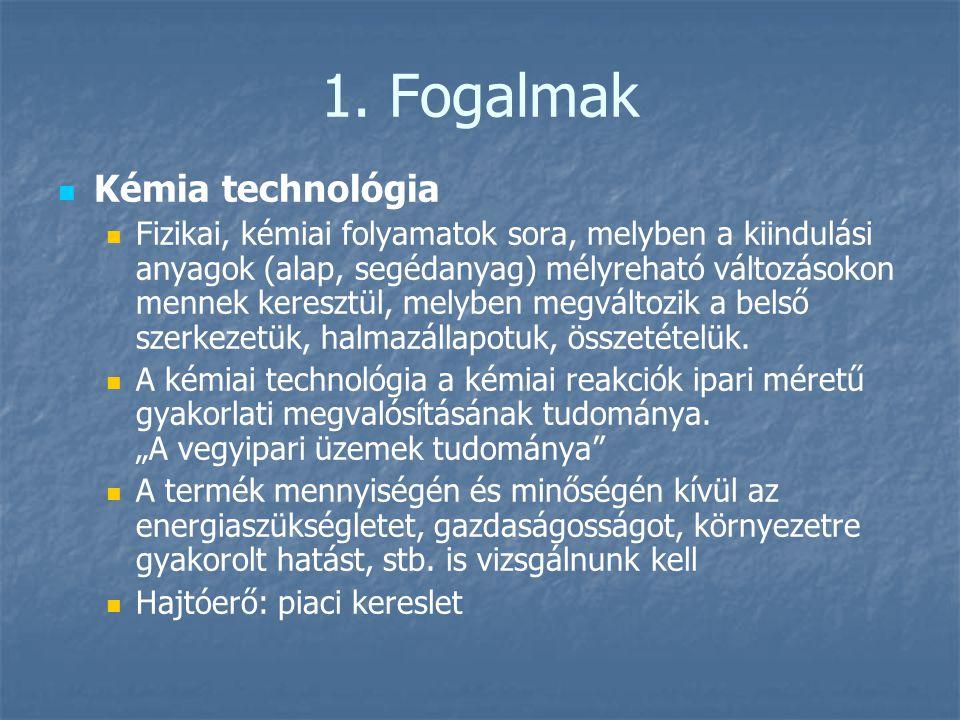 1. Fogalmak Kémia technológia
