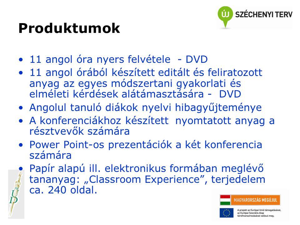 Produktumok 11 angol óra nyers felvétele - DVD