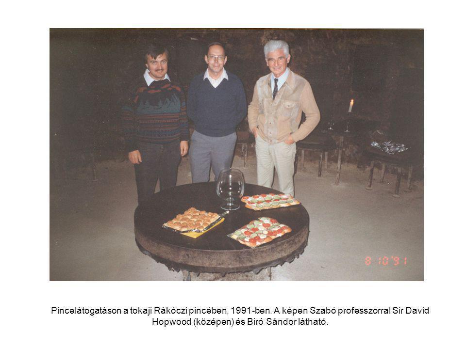 Pincelátogatáson a tokaji Rákóczi pincében, 1991-ben