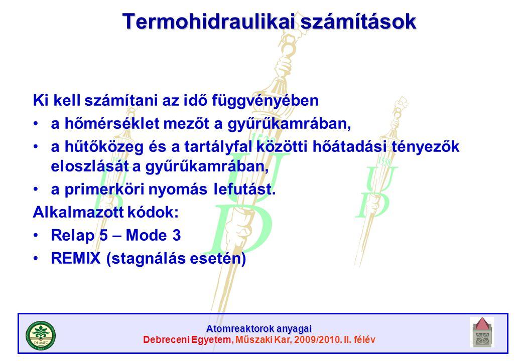 Termohidraulikai számítások