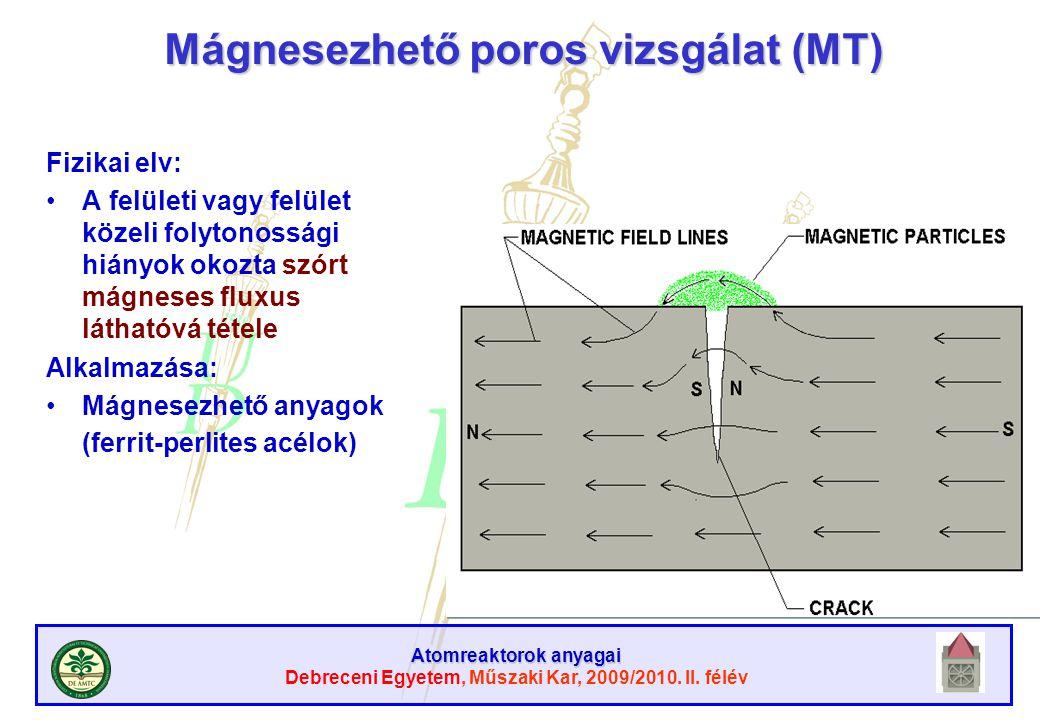 Mágnesezhető poros vizsgálat (MT)