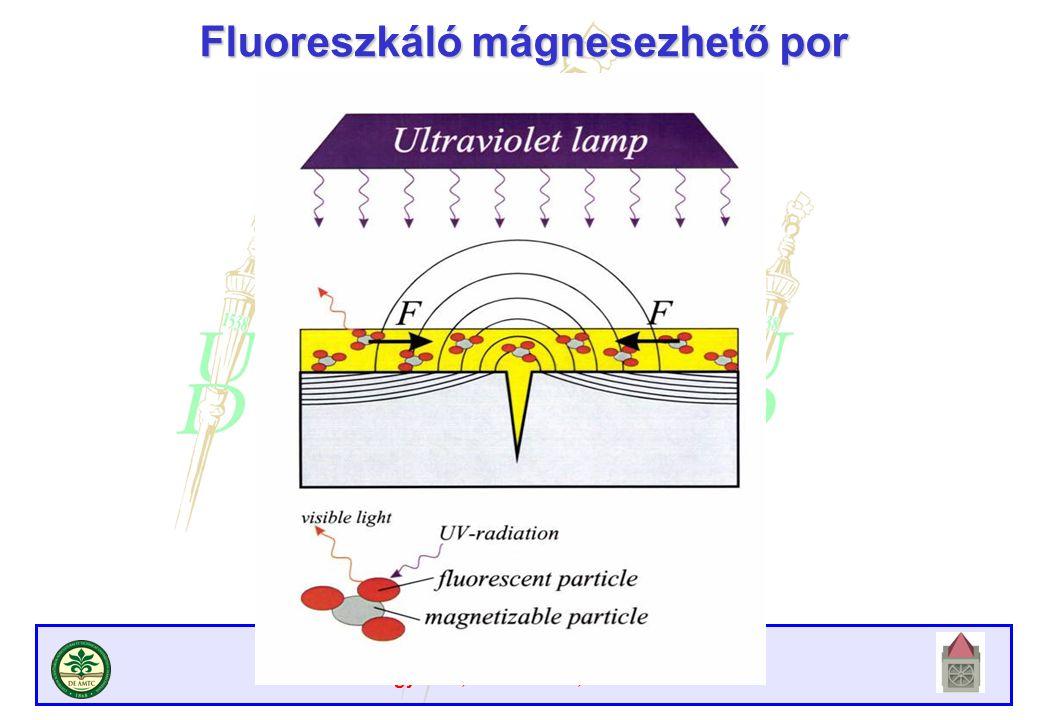 Fluoreszkáló mágnesezhető por