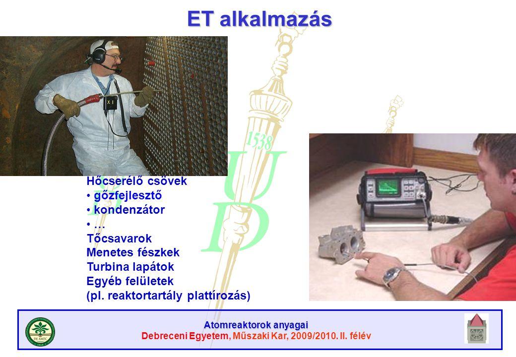 ET alkalmazás Hőcserélő csövek gőzfejlesztő kondenzátor … Tőcsavarok