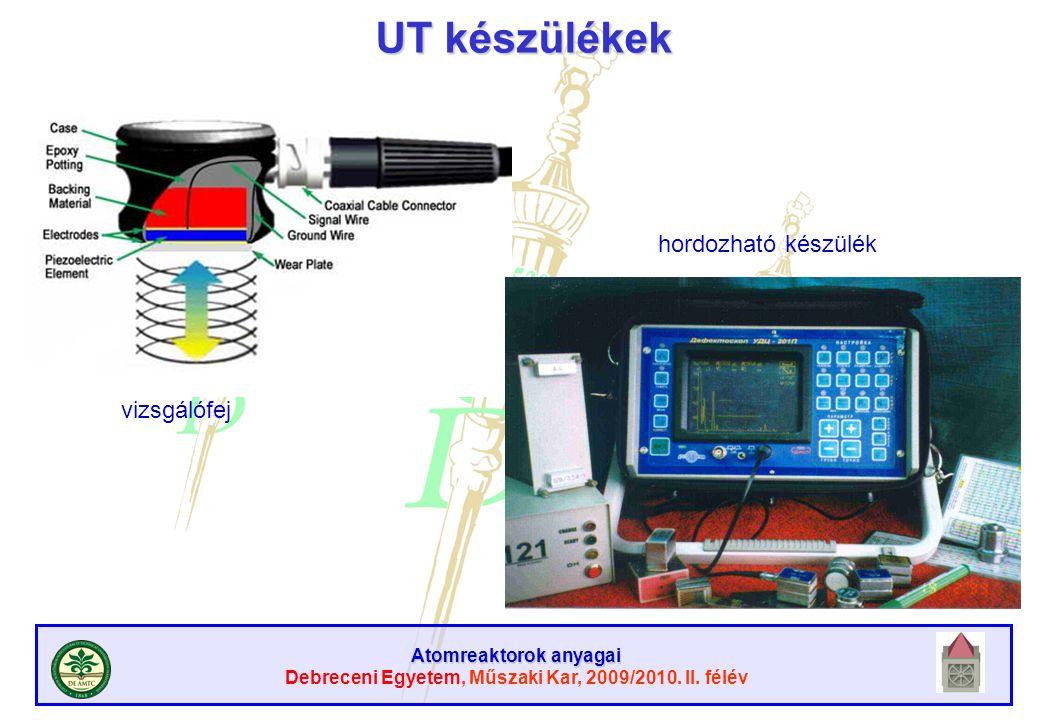 UT készülékek hordozható készülék vizsgálófej