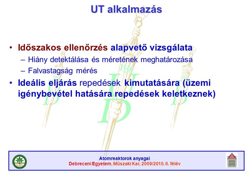 UT alkalmazás Időszakos ellenőrzés alapvető vizsgálata