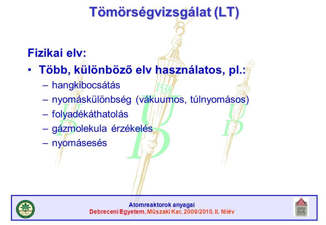 Tömörségvizsgálat (LT)