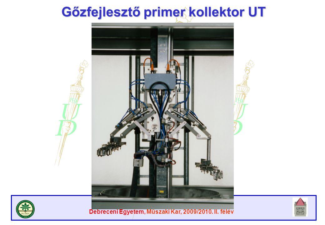 Gőzfejlesztő primer kollektor UT