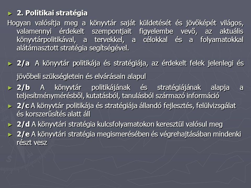 2. Politikai stratégia