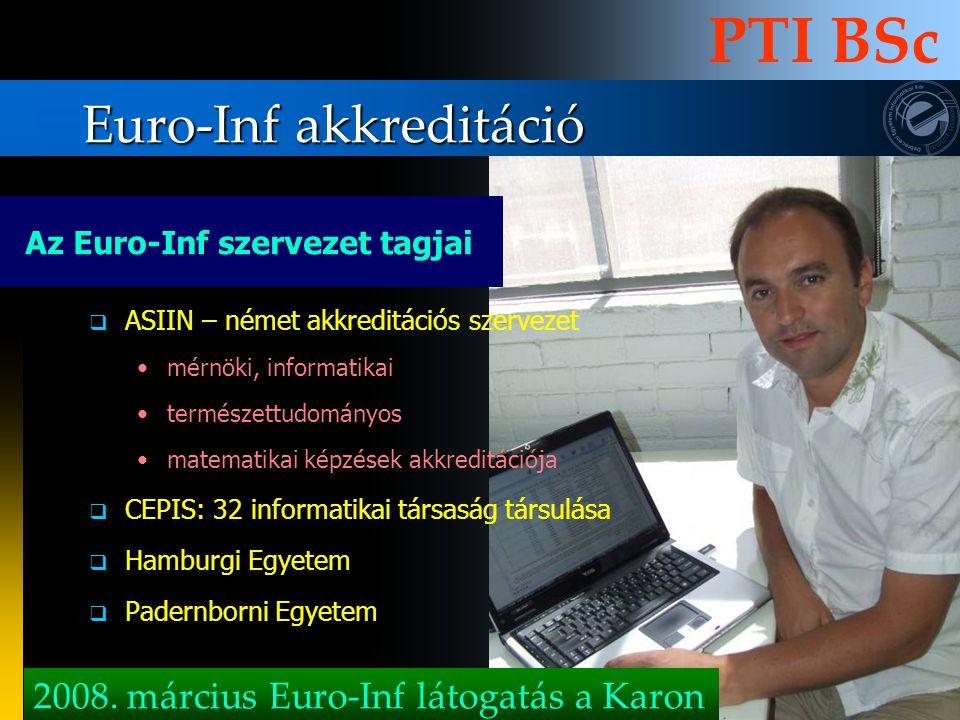 Euro-Inf akkreditáció