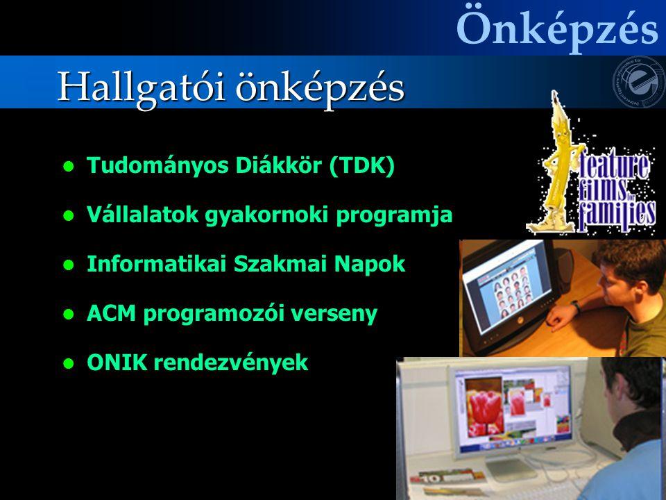 Önképzés Hallgatói önképzés Tudományos Diákkör (TDK)