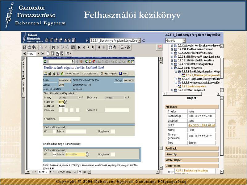 Felhasználói kézikönyv