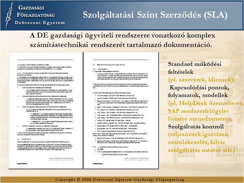 Szolgáltatási Szint Szerződés (SLA)
