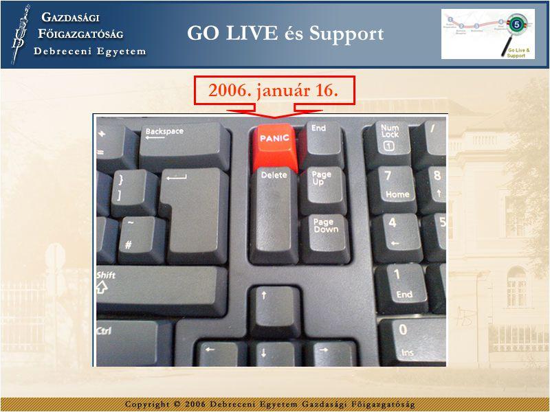 GO LIVE és Support 2006. január 16.