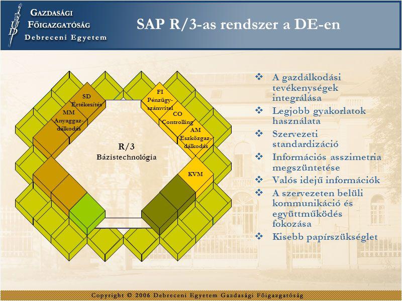 SAP R/3-as rendszer a DE-en