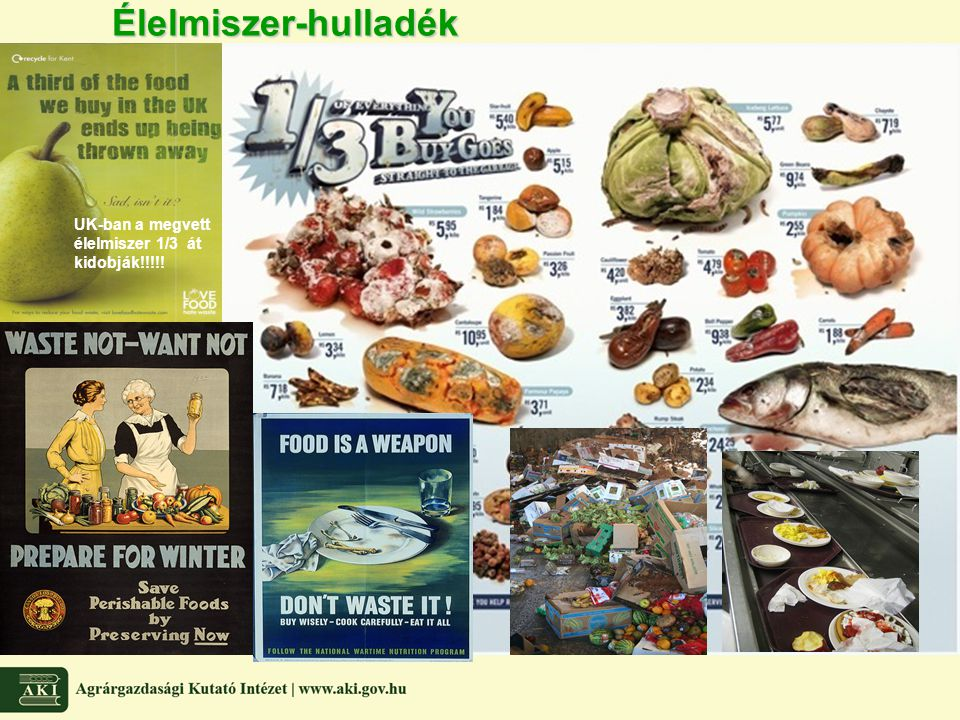 Élelmiszer-hulladék UK-ban a megvett élelmiszer 1/3 át kidobják!!!!!