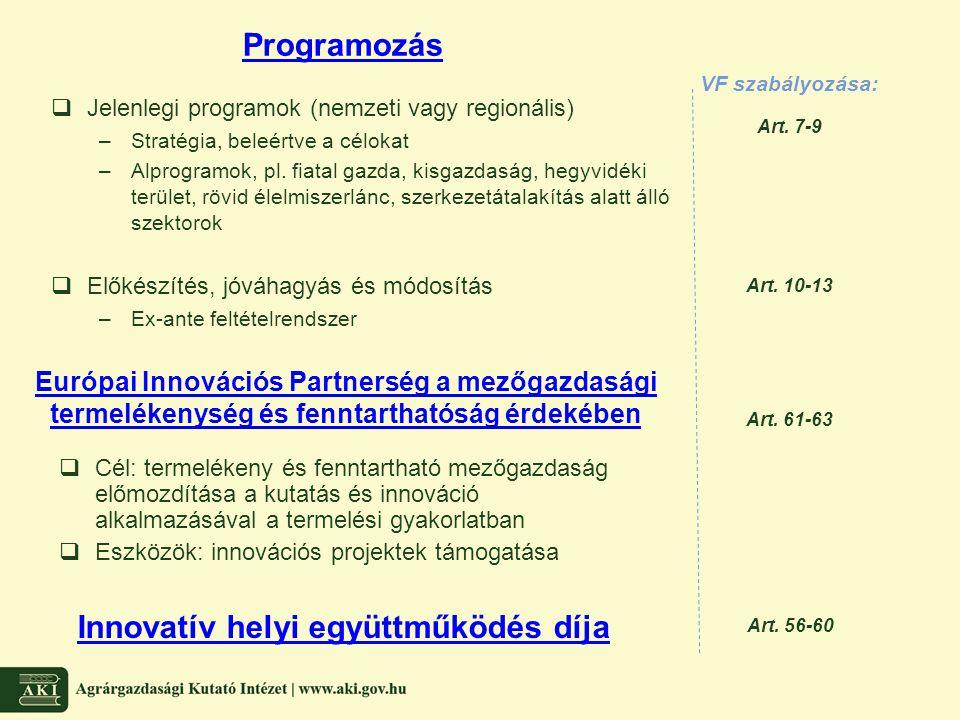 Innovatív helyi együttműködés díja