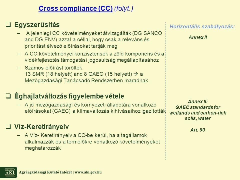 Cross compliance (CC) (folyt.)