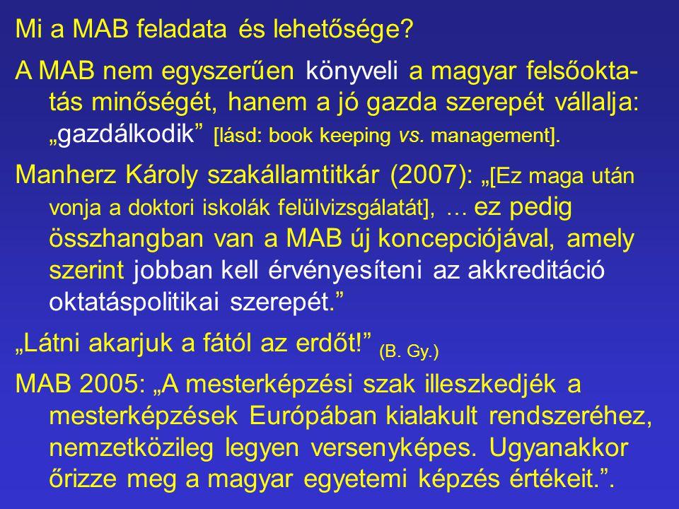 Mi a MAB feladata és lehetősége